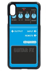 Personalised Custom Blue Guitar Effects Fx Pedal Motif (Any Name) Mobile Phone Case To Fit iPhone